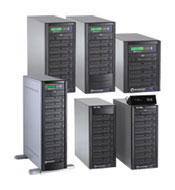 Microboards Premium Pro DVD tower duplicators.